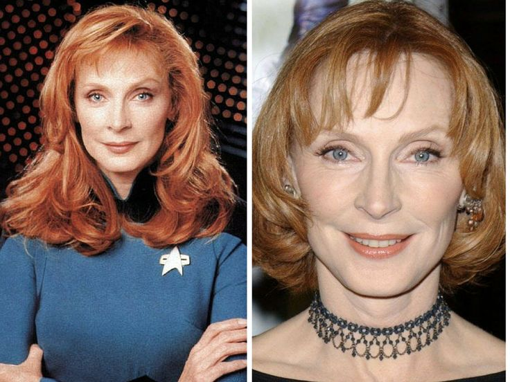 The Cast of Star Trek Then & Now - Dr. Beverly Crusher – Gates McFadden ;-)~❤~