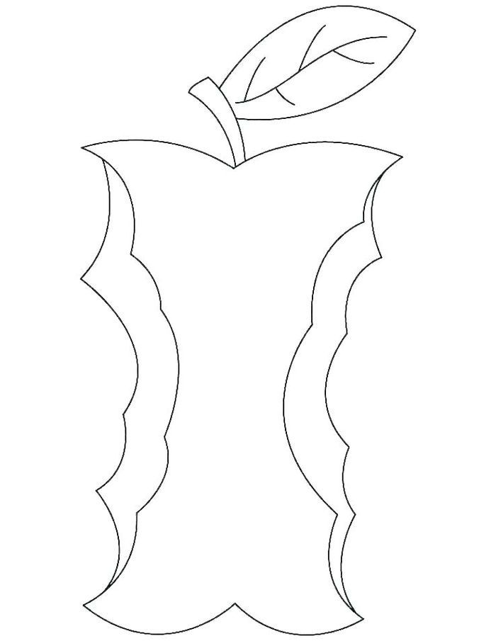 Apple Coloring Pages In 2020 With Images Apple Coloring Pages