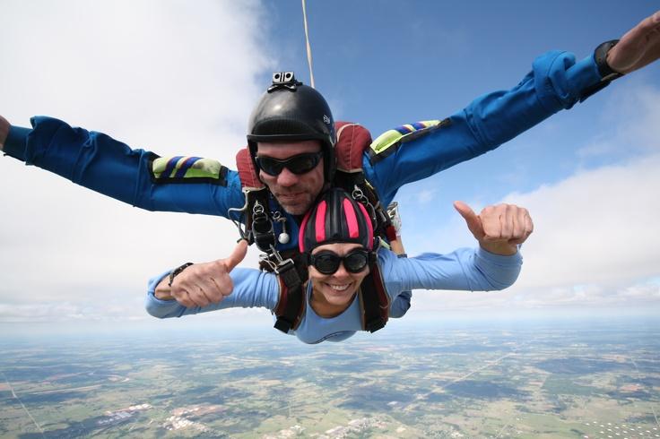 Skydiving in Cushing Ok.  2011