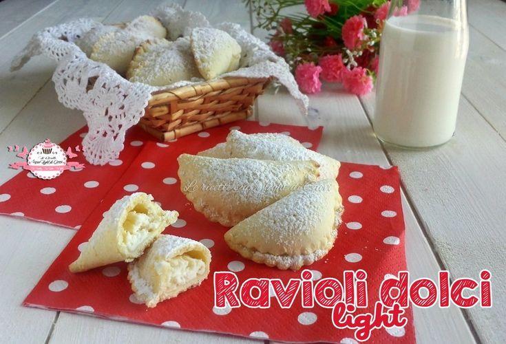 Ravioli dolci light,ideali per le feste ma non solo, sono così leggeri e con pochissimi grassi che sono perfetti sempre!