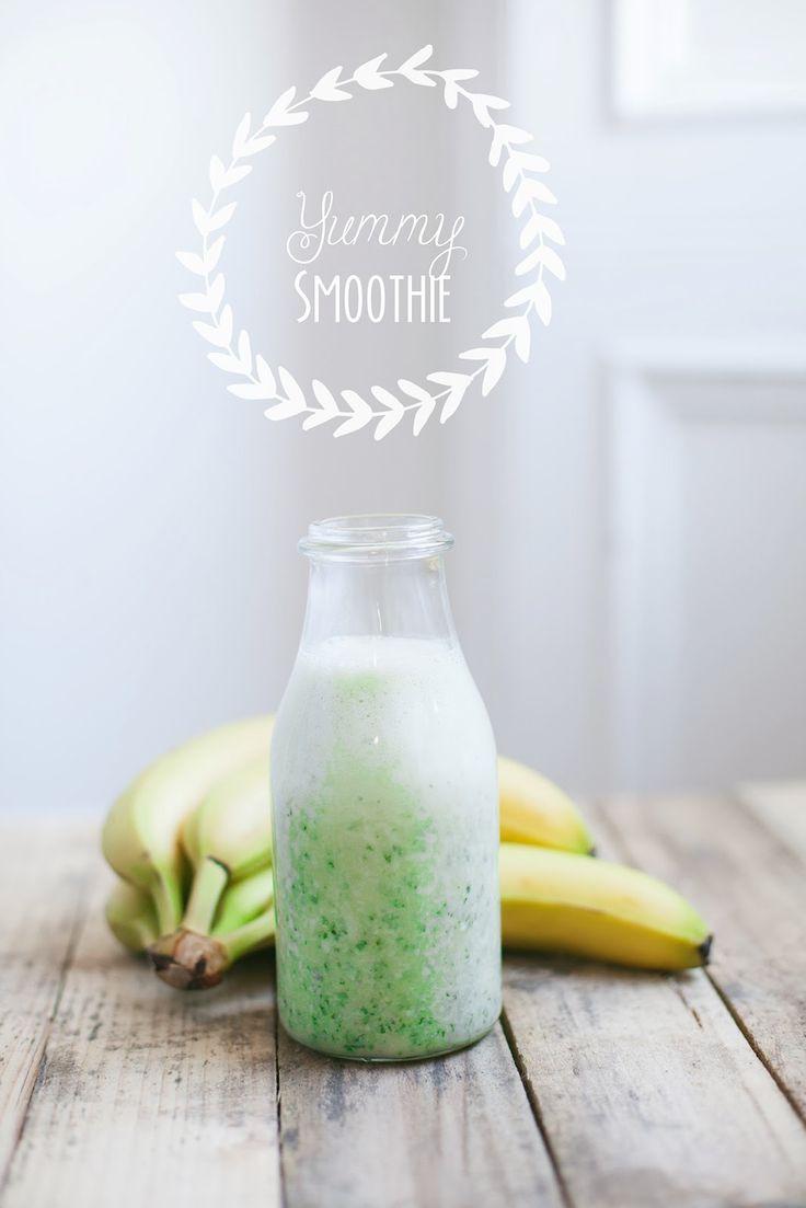 Yummy indeed.  Kale Banana Smoothie  #healthy #fruit #smoothie