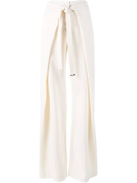 Shop Proenza Schouler wrap palazzo pants in All Too Human from the world's best…