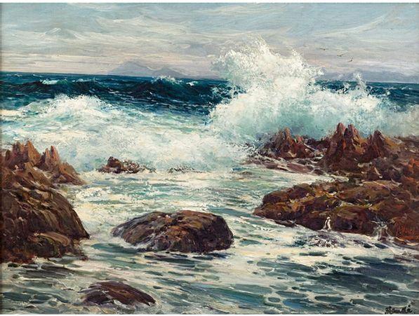 Pieter Hugo Naudé SOUTH AFRICAN 1868-1941 Seascape,