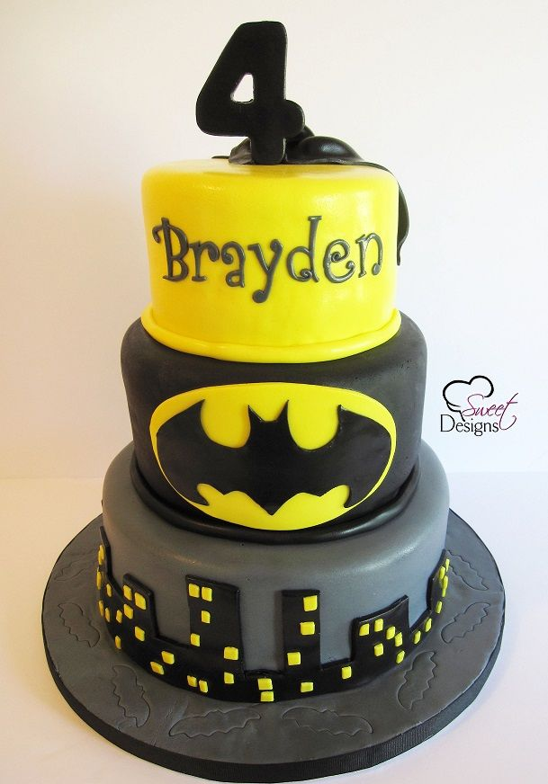 3 Tier Batman Cake Party Cakes Cake Tiered Cakes
