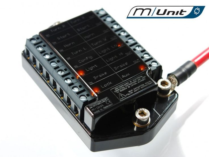 Product Details The m-Unit V.2 is a digital control unit for your motorcycle - the 'heart' of the vehicle's electrical system. The m-Unit V.2 can be operated by push-button control or conventional swi