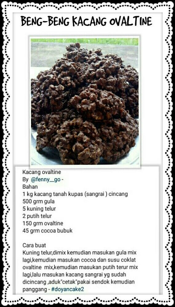Neng Neng Kacang Ovaltine Kue Kering Mentega Cemilan Makanan Penutup