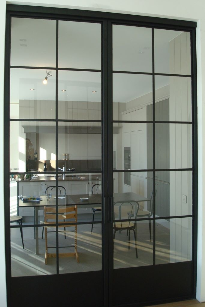 Metal doors seem very practical; also good material for crossover between old and new.