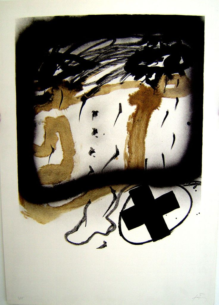 Antoni Tapies: one of my all-time favourites. I wish I'd done this.