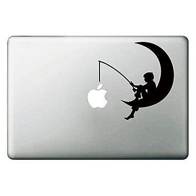 De Maan Patroon Apple Mac Decal Skin Sticker Cover voor MacBook Air Pro – EUR € 3.85