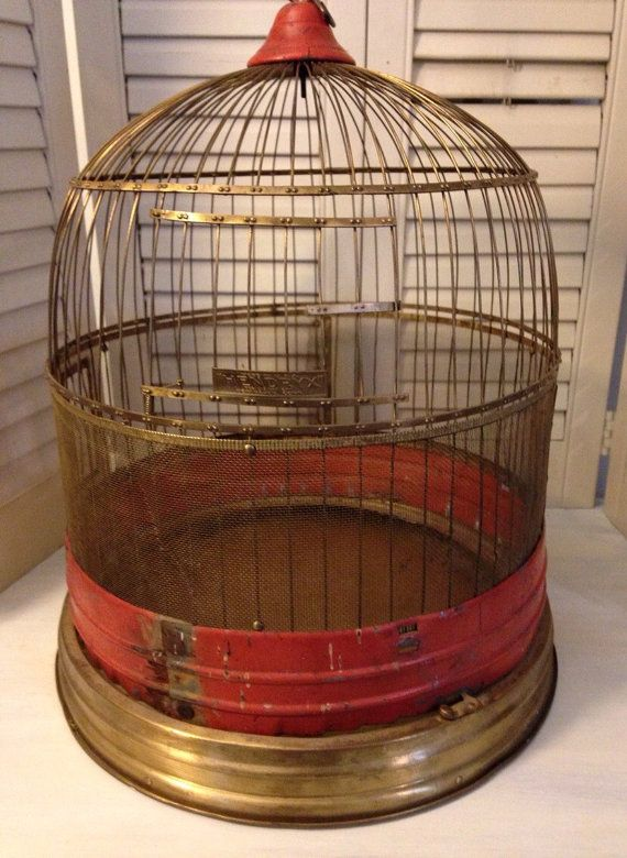 Vintage Antique Hendryx Birdcage by Nogginsandnapes on Etsy