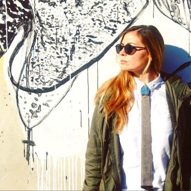 StreetArt Rome  #modular #accessory #neckwear #madeinitaly #noknots #tie #cravatta #man #style #double #side #eclectic #eclepti
