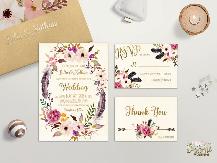 Wedding Invitation Ideas Pinterest: Best 25+ Bohemian Wedding Invitations Ideas On Pinterest