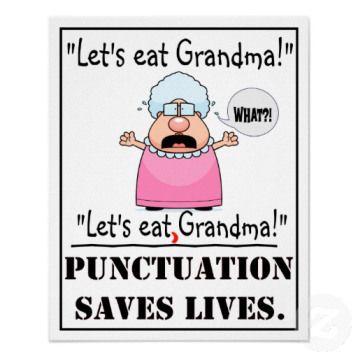 Funny Grammar Jokes via @HubSpot Punctuation saves lives!