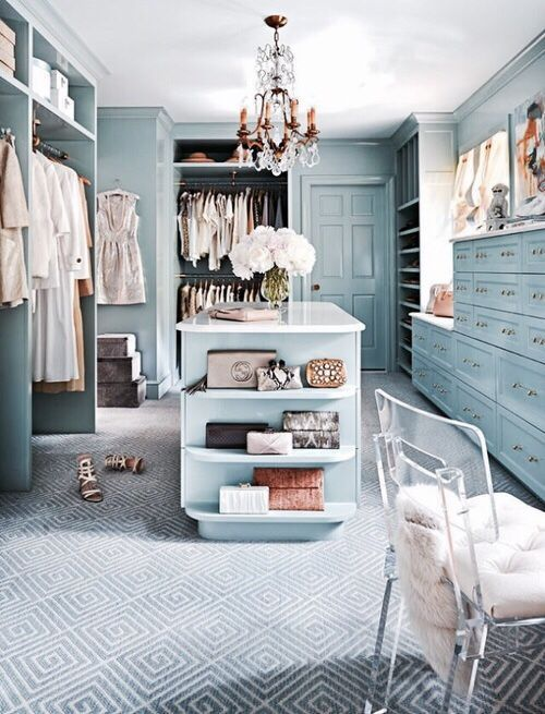 Blue closet #organizing #organization