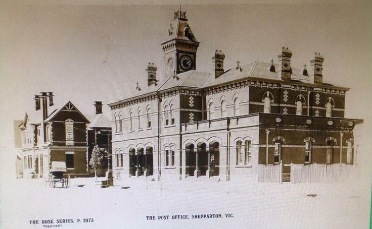 Shepparton Post Office and National Bank Building circa 1930s