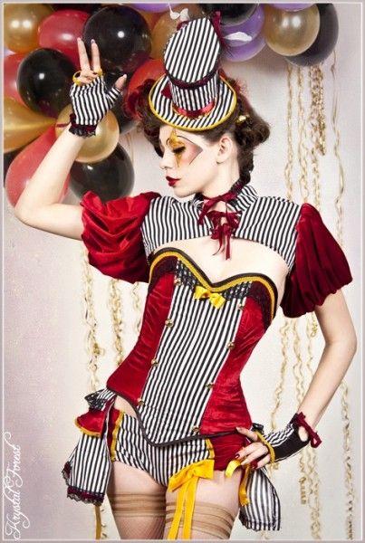 Festa temática Circo   Inspirações e referências de fantasias e maquiagem artística
