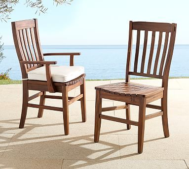 Benchwright Outdoor Dining Chair #potterybarn