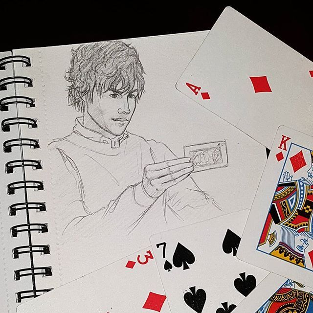 Okay but Jesse Eisenberg in Now You See Me?! I have a thing for fictional self-righteous intellectuals. See also: Sherlock. . . . #jesseeisenberg #nowyouseeme #nysm2 #nysm #playingcards #magic #illusion #fourhorseman #art #sketch #fanart