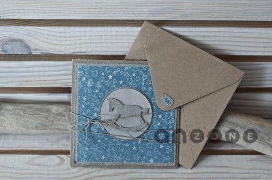 scrapbooking - kartki okolicznościowe-Kartka na chrzest, narodziny dziecka