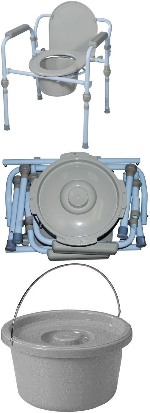 Toilet Frames and Commodes: Folding Bedside Commode Bucket Splash Guard Medical Portable Toilet Seat Safety -> BUY IT NOW ONLY: $48.95 on eBay!