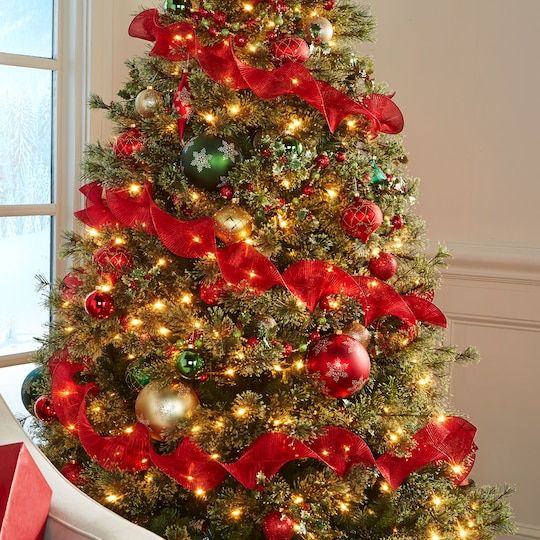 Ashland Christmas Trees.7 5ft Pre Lit Quick Set Jasper Artificial Christmas Tree