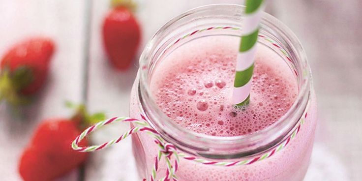Milk-shake végétal à la fraise