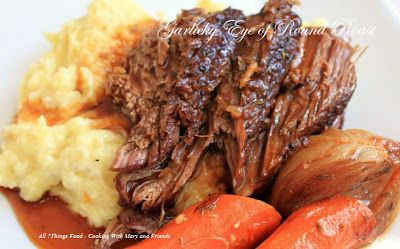 Slow Cooker Garlicky Eye of Round Roast - Simple & delish - Perfect for chilly weather!!