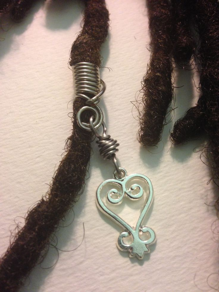 Silver Sankofa African Adinkra Hair Bead Tube Dread Locs ...