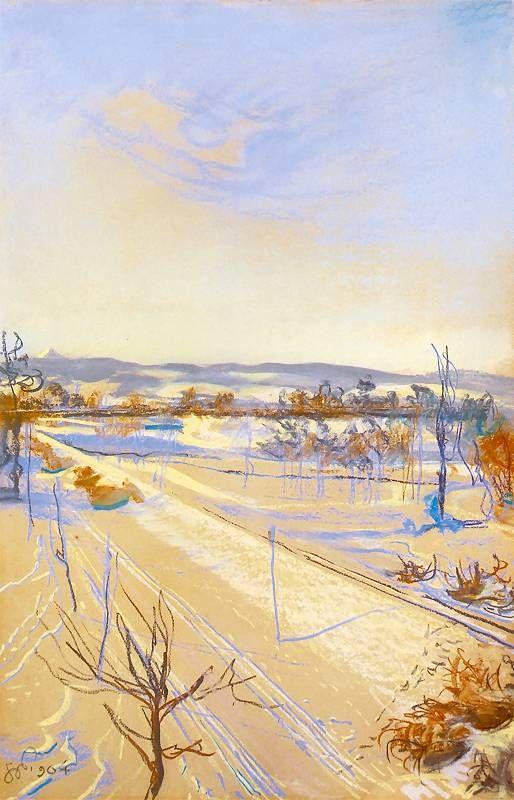 """Stanisław Wyspiański """"Widok z okna pracowni na Kopiec Kościuszki"""", 1904 (Muzeum Narodowe w Krakowie)"""