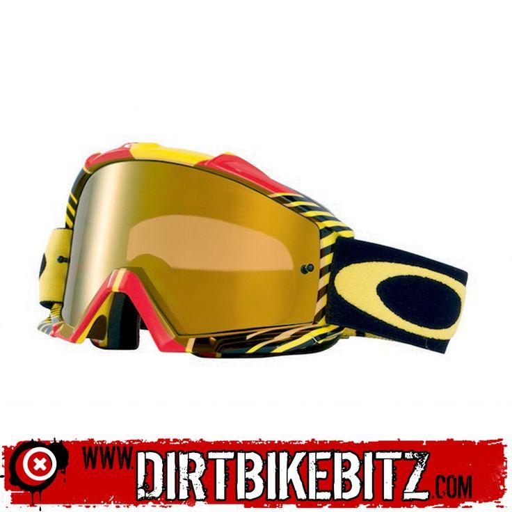 2014 Oakley Proven Motocross Goggles - Biohazard Red Yellow - 2014 Oakley Motocross Goggles - 2014 Motocross Gear - by Oakley
