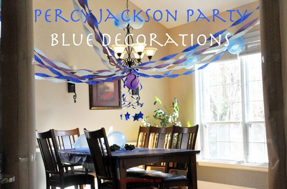 Another blog post about a Percy Jackson birthday party. Look at those awesome blue decorations!