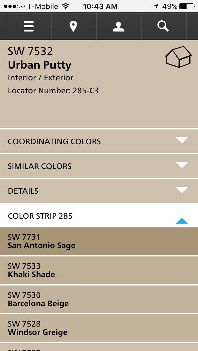 ideas for living room wall colours led lights sherwin williams urban putty | kitchen pinterest ...