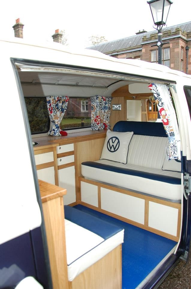 The new interior installed by SJH Joinery at Alfreton in Derbyshire. New VW cushions by Dubholstery in Warrington