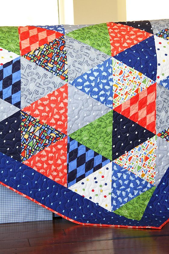triangle quilt tutorial by Sarah Jane and Diary of a Quilter