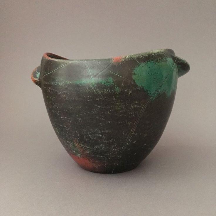art deco keramik Übertopf grootenburg dresler vintage