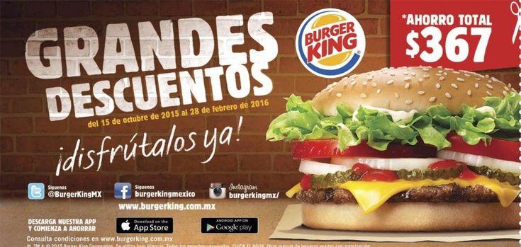 Burger King cupones de descuento 2016