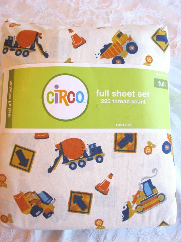 NEW TODDLER BOY'S BUILD IT COLLECTION CONSTRUCTION FULL SHEET SET TARGET CIRCO #CIRCO