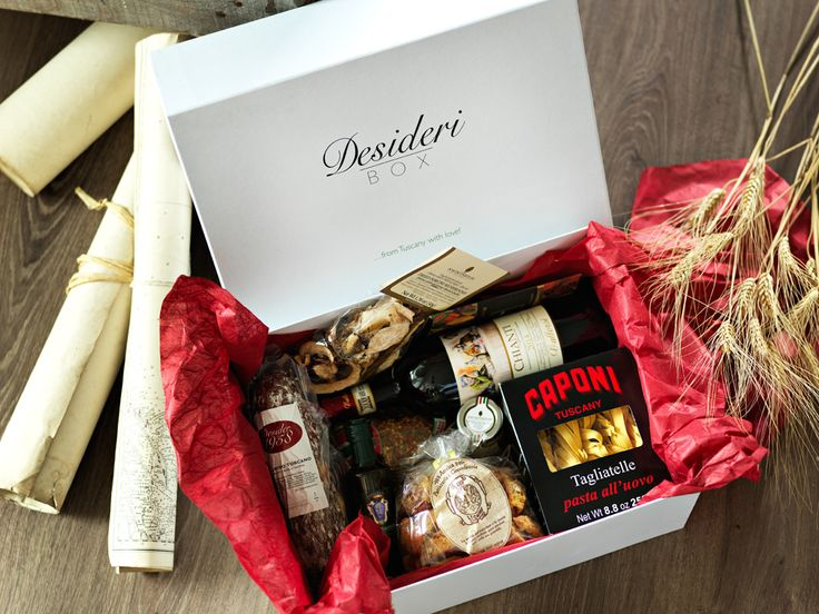 Desideri Box - scatola regalo - gift box con prodotti enogastronomici gourmet 100% made in Tuscany