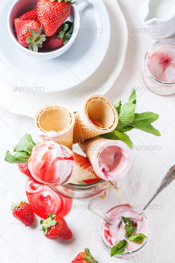 Strawberry ice cream ...  above, ahead, background, ball, berry, closeup, cold, cone, cream, cup, dairy, delicious, dessert, flavor, food, fresh, frozen, fruit, glass, green, ice, ice-cream, icecream, jar, menu, mint, nobody, object, pink, portion, product, red, refreshment, scoop, snack, strawberry, summer, sundae, sweet, syrup, tasty, top, toping, vanilla, view, wafer, white