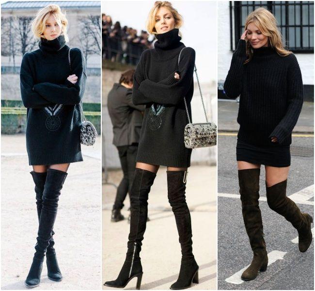 Tudo preto, riqueza e glamour! Se na seção feminina não achar um maxi tricô, se aventure na parte masculina! Por que não?