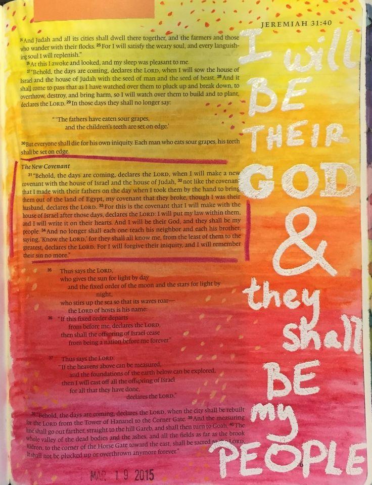 Bible Journaling, Jeremiah 31:31-34 — Arden Ratcliff-Mann #illustratedfaith
