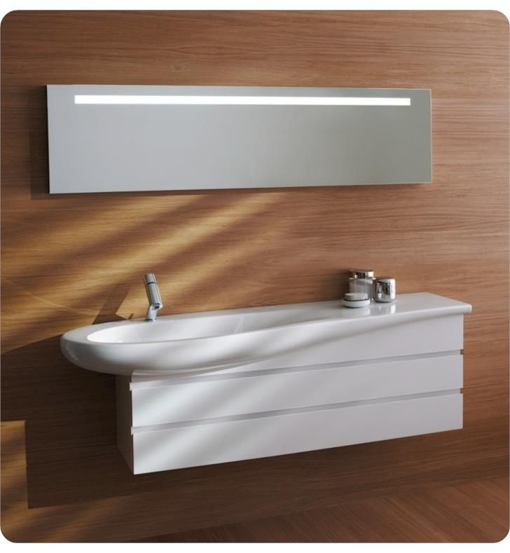 Laufen H8149734001 Ilbagnoalessi One 47 1 4 Wall Mount Bathroom Sink With Left Basin In White Wall Mounted Bathroom Sinks Laufen Bathroom Sink