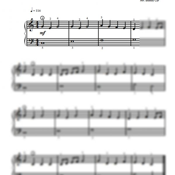 Easy Piano Sheet Music For