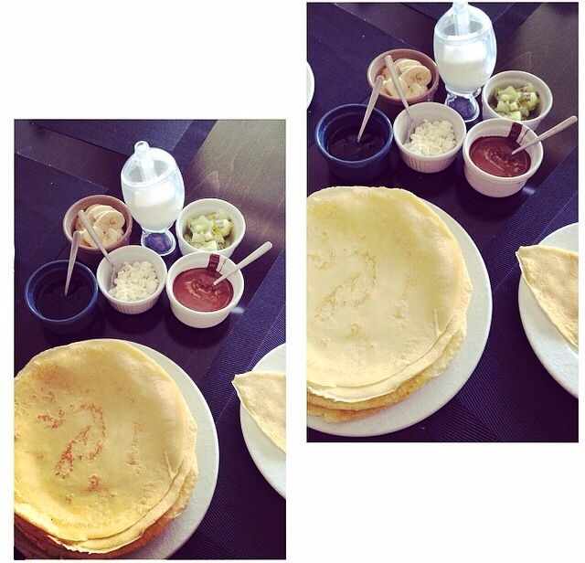 French crepes for breakfast :)