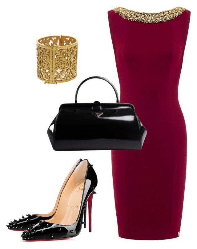 """""""Fine Wine"""" by kmags4 ❤ liked on Polyvore featuring Chanel, Christian Louboutin and Prada"""
