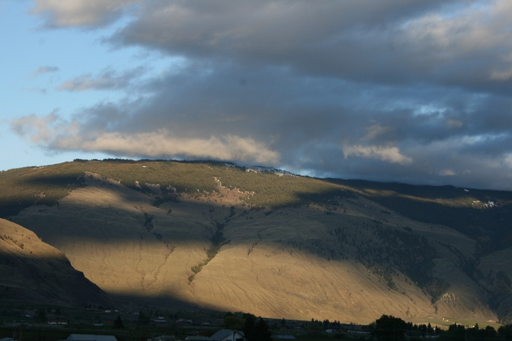 cloud shadows on the Cawston Hills