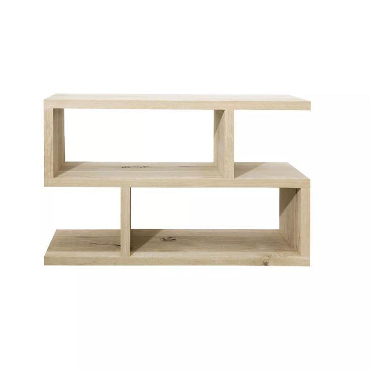 Oak low S shape shelf