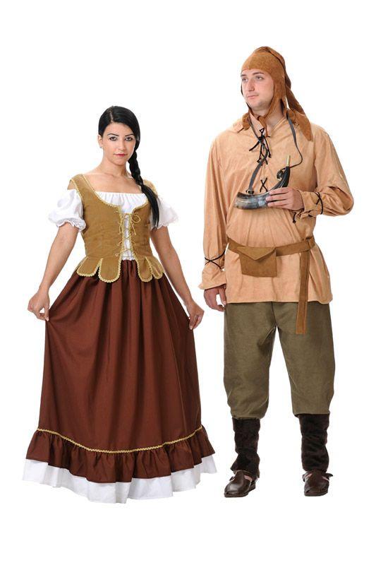 DisfracesMimo, disfraz de tabernera medieval mujer talla m/l. Compra tu disfraz barato y serás esa encantadora mesonera que amablemente apaga la sed y enamora con su sonrisa. Es ideal para tus ferias y mercados medievales.