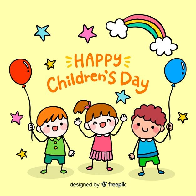 Download Children S Day Background With Rainbow For Free Child Day Happy Children S Day Children S Day