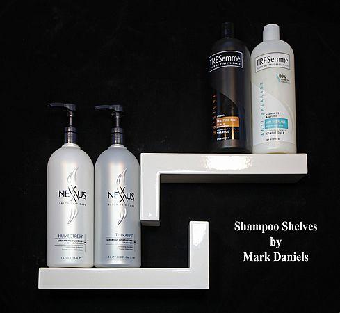 Shower Shelves By Mark Daniels L Shape Master Bathroom Pinterest